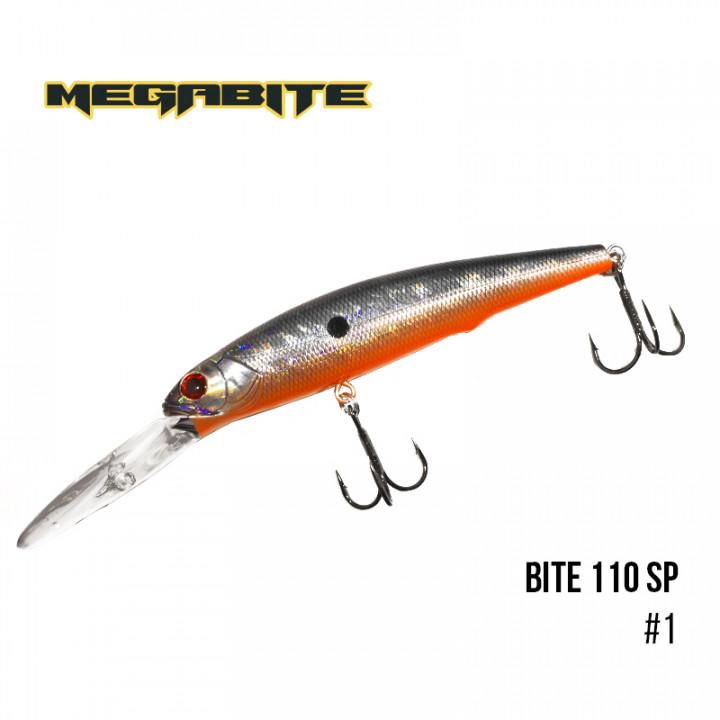 Воблер Megabite Bite 110 SP 110mm 23.6g  до 6m 1