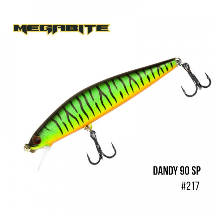 Воблер Megabite Dandy 90mm 11.4g до 1m 217