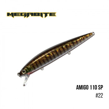 Воблер Megabite  Amigo 110 SP 110mm 14.3g до 1m 22