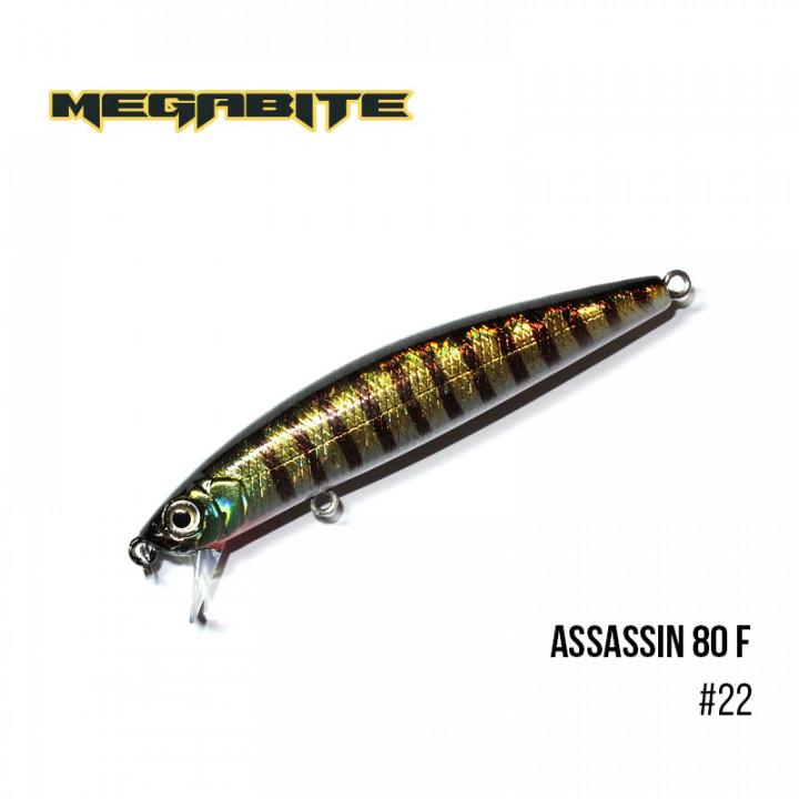 Воблер Megabite Assassin 80 F 80mm 7.8g до 0.4m 22