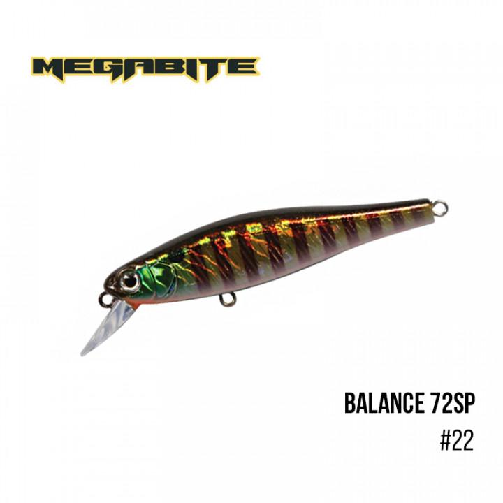 Воблер Megabite Balance 72 SP 72mm 6.9g до 1m 22