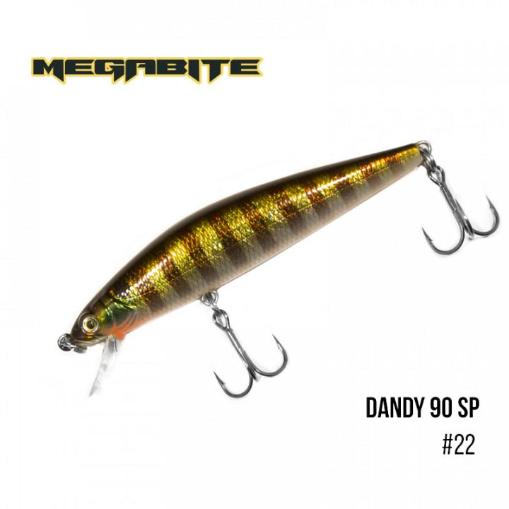 Воблер Megabite Dandy 90mm 11.4g до 1m 22
