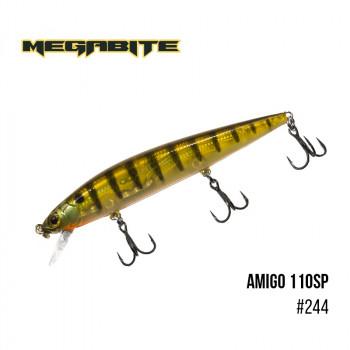 Воблер Megabite  Amigo 110 SP 110mm 14.3g до 1m 244