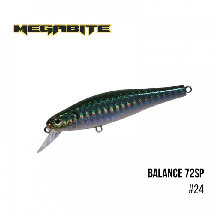 Воблер Megabite Balance 72 SP 72mm 6.9g до 1m 24