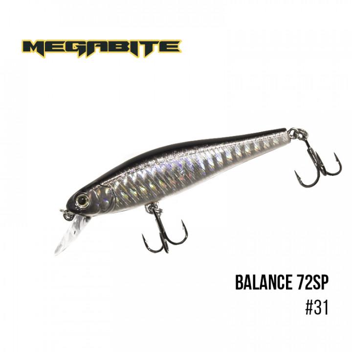 Воблер Megabite Balance 72 SP 72mm 6.9g до 1m 31