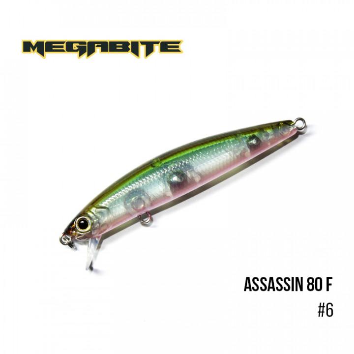 Воблер Megabite Assassin 80 F 80mm 7.8g до 0.4m 6