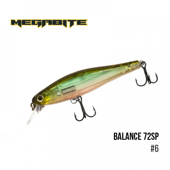 Воблер Megabite Balance 72 SP 72mm 6.9g до 1m 6