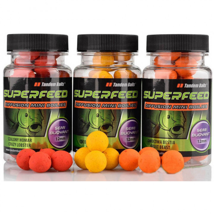 Бойлы Tandem Baits Super Feed Diffusion Mini Boilies 12mm 35g Secret Squid