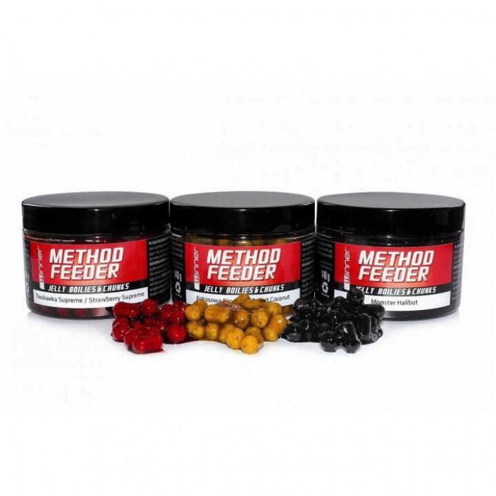 Бойлы Winner Method Feeder Jelly Boilies&Chunks 140g Ванильный крем
