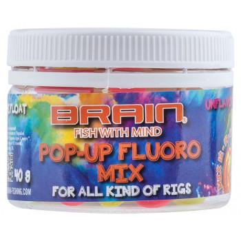 Бойлы Brain Pop-Up Fluo Mix 40g, unflavoured, mix 12-14-16 mm