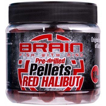 Пеллетс Brain Red Halibut Pre drilled 14mm 250g