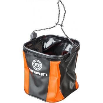 Ведро Brain EVA для набора воды мягкое без крышки ц:оранжевый/черный