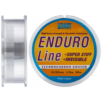 Леска Brain Enduro 50 m 0,123 mm #0.6, 1.2 kg, 2.7 lb, ц.: smoke