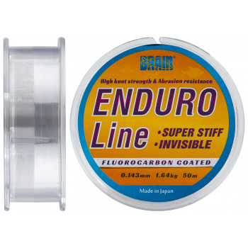 Леска Brain Enduro 50 m 0,143 mm #0.8, 1.64 kg, 3.6 lb, ц.: smoke