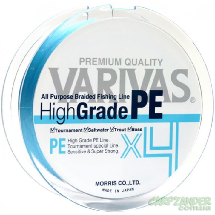 Varivas High Grade PE X4 New Water Blue 150m #0.6