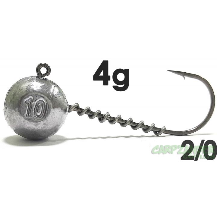 Джиг-головка Jigger с пружинкой кр. Jaxon (Korea) 2/0  4g