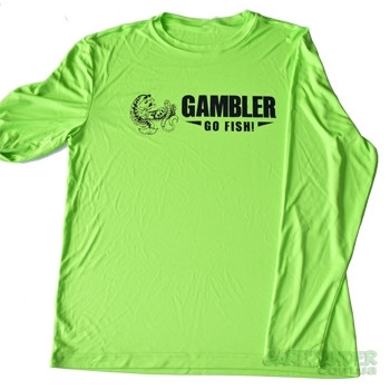 Gambler Lime Performance Long Sleeve Black Logo XL