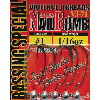 Джиг головка Decoy Nail Bomb VJ-71 #1/0 1.8g (5шт/уп)
