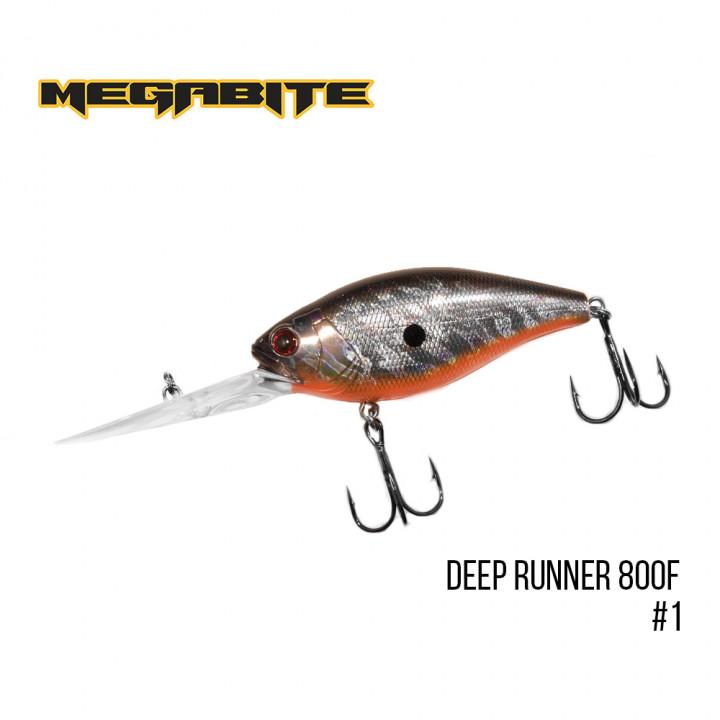 Воблер Megabite Deep Runner 80mm 38.7g до 8m 1
