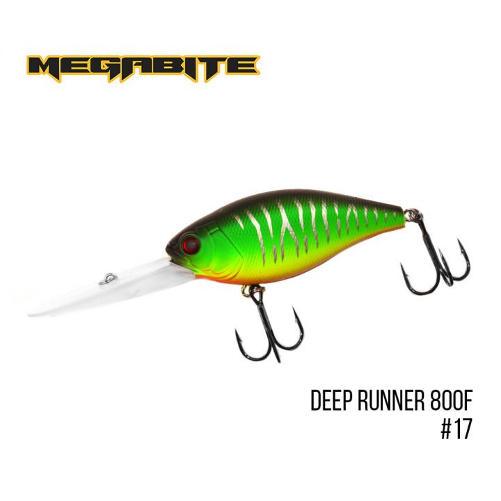 Воблер Megabite Deep Runner 80mm 38.7g до 8m 17