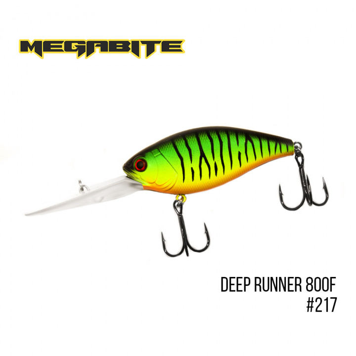 Воблер Megabite Deep Runner 80mm 38.7g до 8m 217