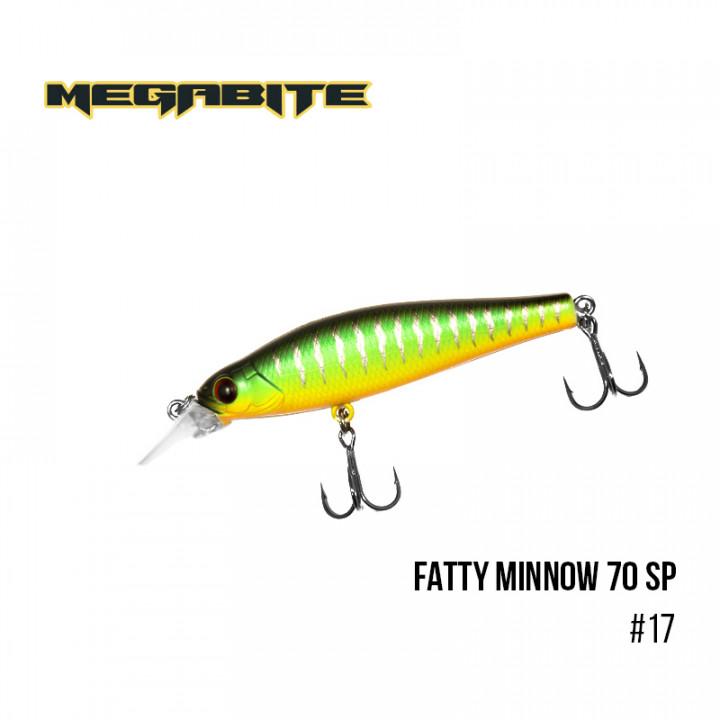 Воблер Megabite Fatty Minnow 70mm 10g до 1.4m 17