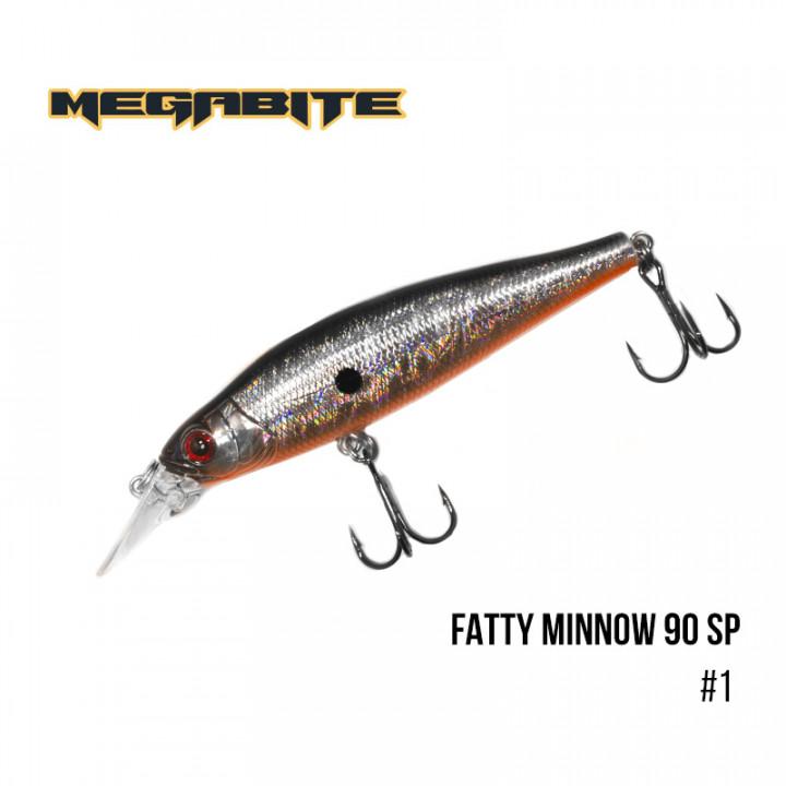 Воблер Megabite Fatty Minnow 90mm 15.8g до 1.3m 1