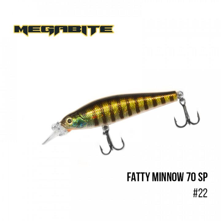 Воблер Megabite Fatty Minnow 70mm 10g до 1.4m 22
