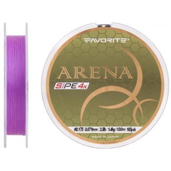 Шнур Favorite Arena PE 100m (purple) #0.175/0.071mm 3.5lb/1.4kg