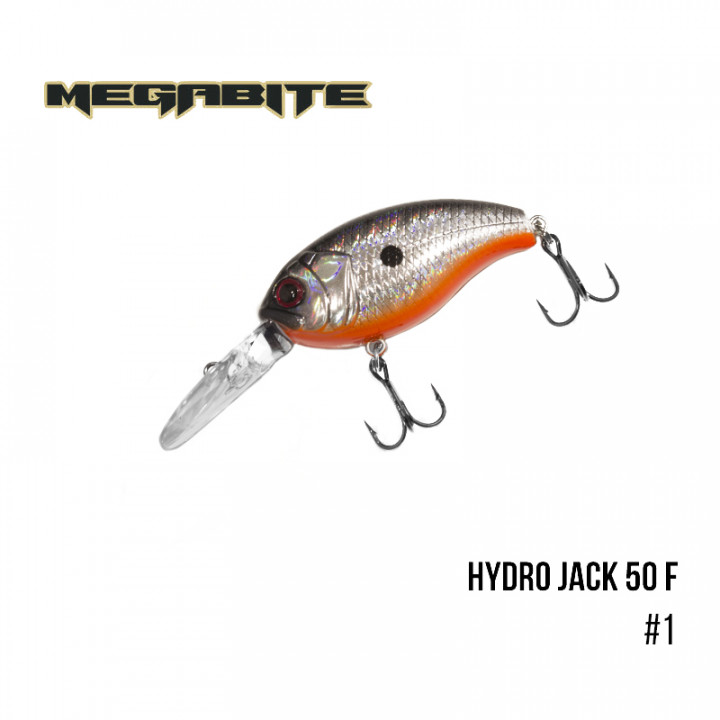 Воблер Megabite Hydro Jack 50 F 50mm 9.01g до 3m 1