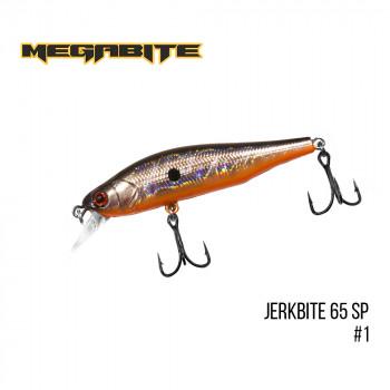 Воблер Megabite  Jerkbite 65 SP 65mm 5.9g до 1m 1
