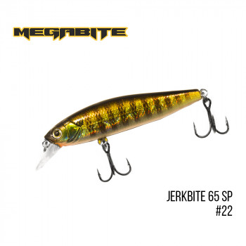Воблер Megabite  Jerkbite 65 SP 65mm 5.9g до 1m 22