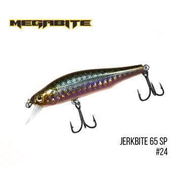 Воблер Megabite  Jerkbite 65 SP 65mm 5.9g до 1m 24
