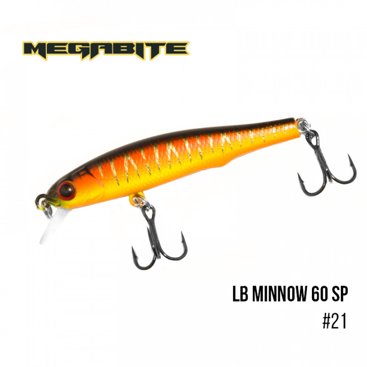 Воблер Megabite LB Minnow 60mm 3.2g до 0.8m 21