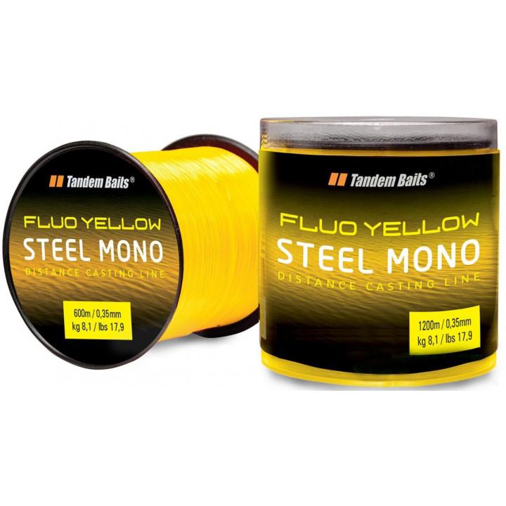 Леска Tandem Baits Steel Mono Fluo 1200m 0.35mm Fluo желтая