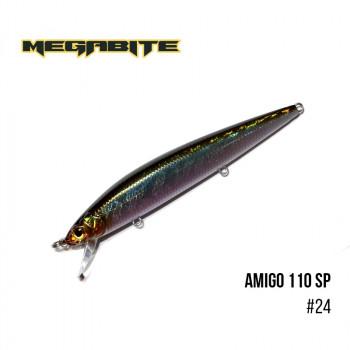 Воблер Megabite  Amigo 110 SP 110mm 14.3g до 1m 24