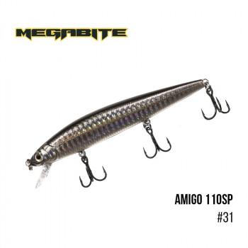 Воблер Megabite  Amigo 110 SP 110mm 14.3g до 1m 31
