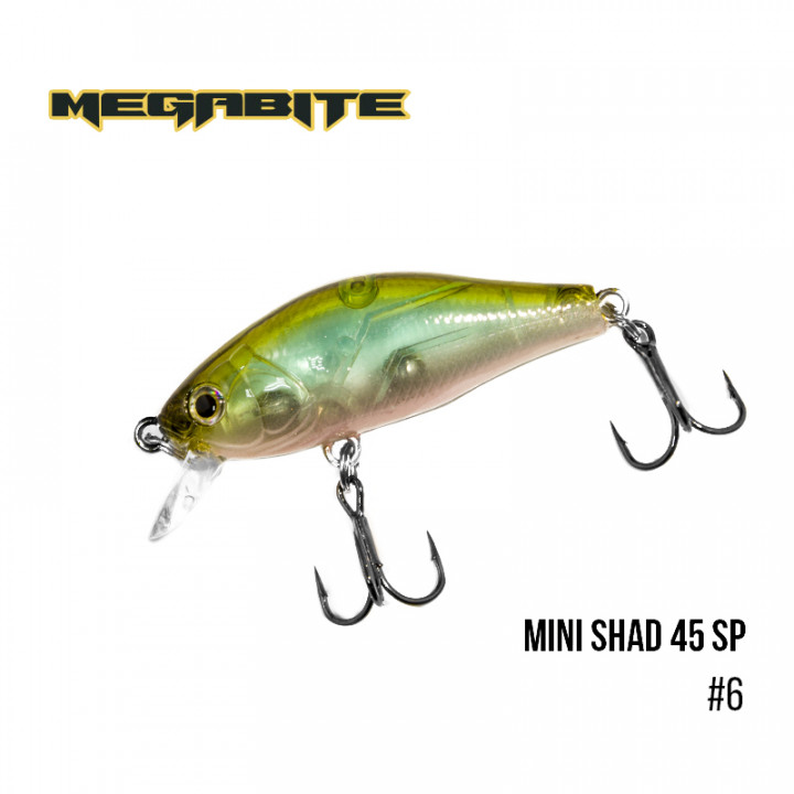 Воблер Megabite Mini Shad 45 SP 45mm 4.3g до 0.5m 6