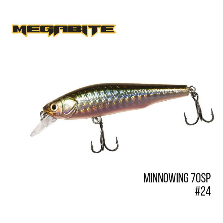 Воблер Megabite Minnowing 70mm 6.5g до 1m 24