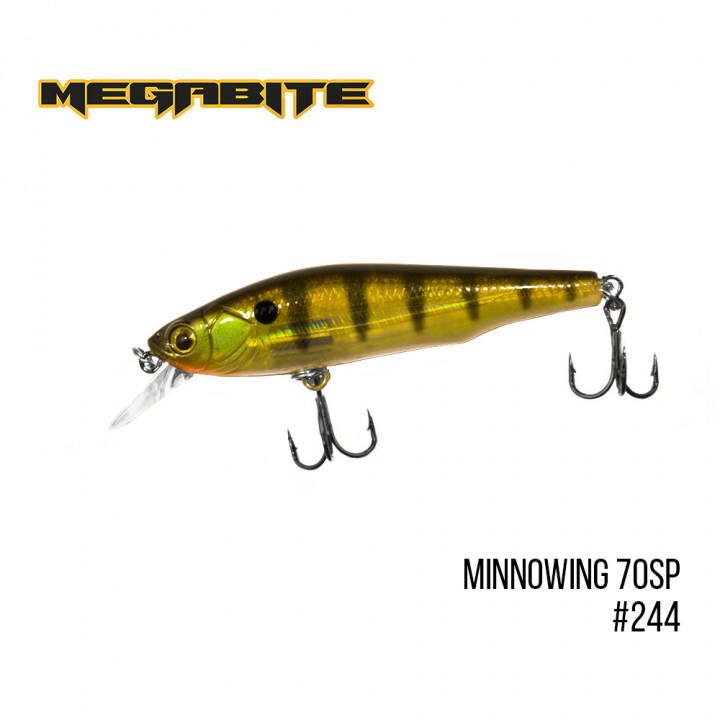 Воблер Megabite Minnowing 70mm 6.5g до 1m 244