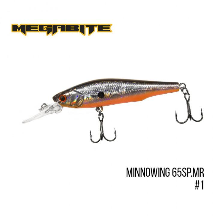 Воблер Megabite Minnowing 65mm 5.5g до 1.5m 1