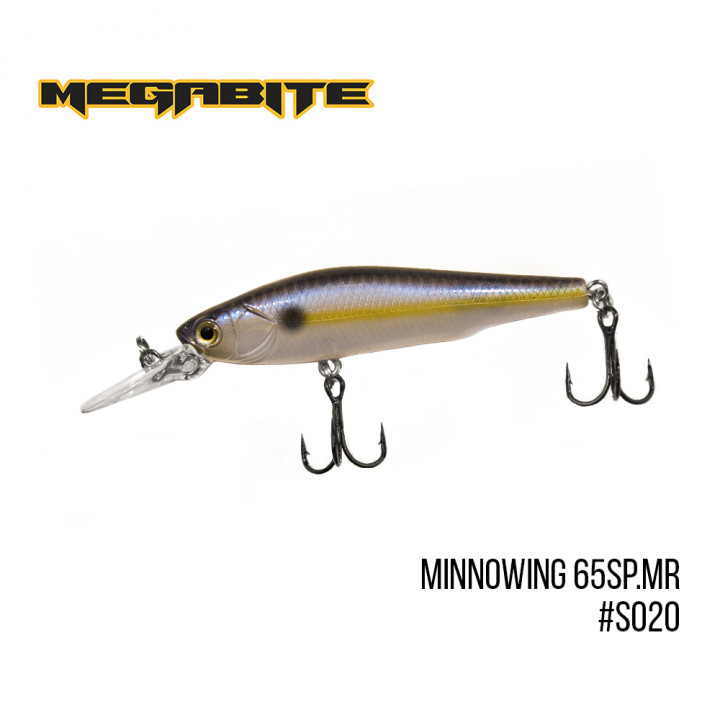 Воблер Megabite Minnowing 65mm 5.5g до 1.5m S020