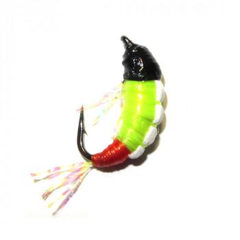 Мормышка безмотылка Shrimp 14mm 0.23g CHARTREUSE