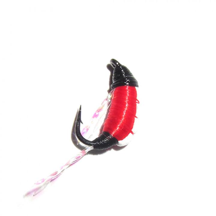 Мормышка безмотылка Shrimp 14mm 0.23g RED