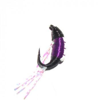 Мормышка безмотылка Shrimp 14mm 0.23g VIOLET