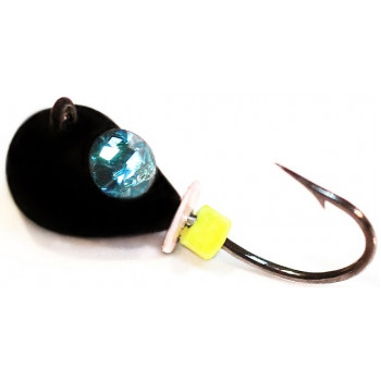 Мормышка вольфрамовая ПМ Капля с кристаллом Swarovski