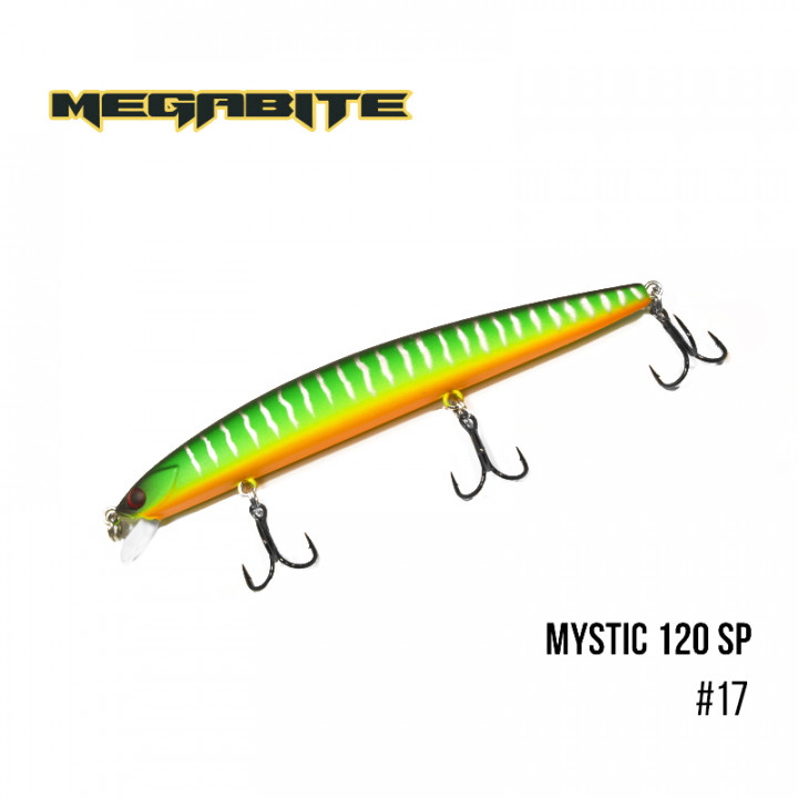 Воблер Megabite Mystic 120mm 14.8g до 0.5m 17