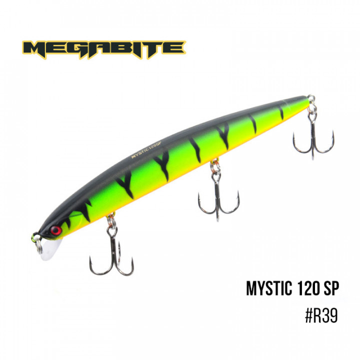Воблер Megabite Mystic 120mm 14.8g до 0.5m R39