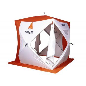 Палатка для зимней рыбалки Fishing ROI Cyclone-2 Куб (180*180*205см) white-orange