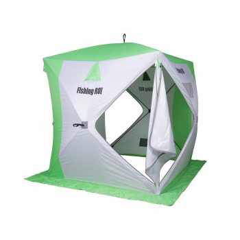 Палатка для зимней рыбалки Fishing ROI Cyclone Куб (180*180*205см) white-green